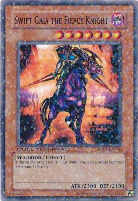 YuGiOh YuGiOh 5D's Duel Terminal 1 Parallel Rare Swift Gaia the Fierce Knight DT01-EN056