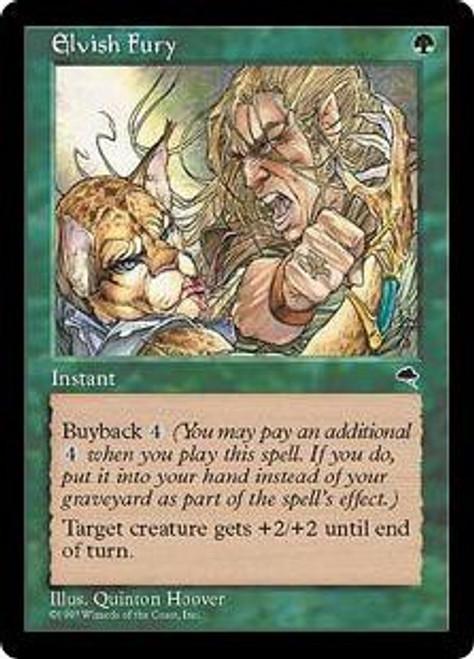 MtG Tempest Common Elvish Fury