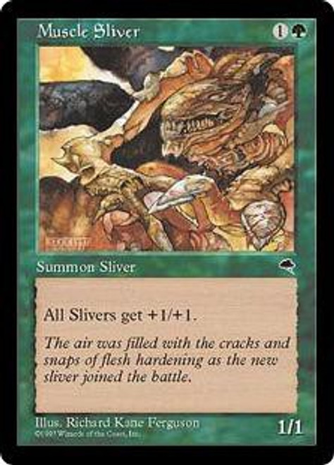 MtG Tempest Common Muscle Sliver [Slightly Played Condition]