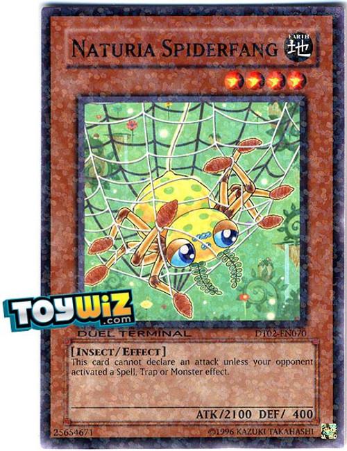 YuGiOh YuGiOh 5D's Duel Terminal 2 Parallel Rare Naturia Spiderfang DT02-EN070