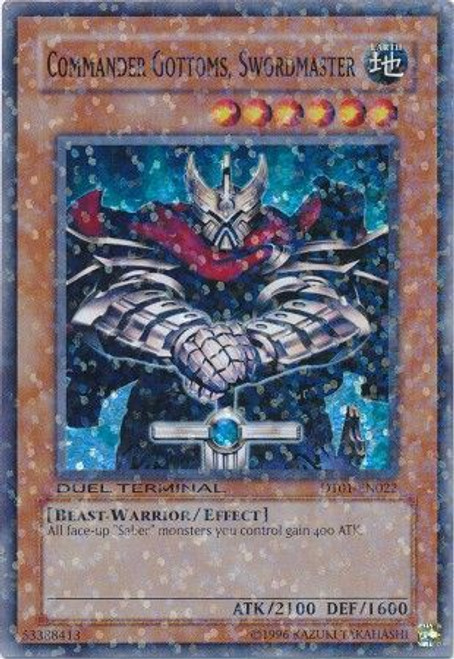 YuGiOh YuGiOh 5D's Duel Terminal 1 Parallel Rare Commander Gottoms, Swordmaster DT01-EN022
