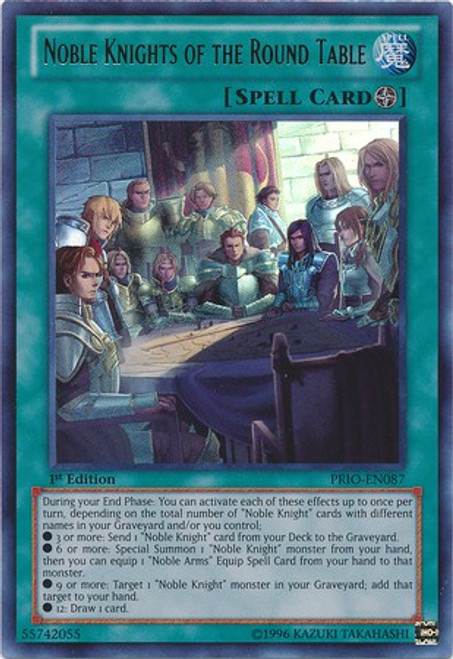 YuGiOh Trading Card Game Primal Origin Ultra Rare Noble Knights of the Round Table PRIO-EN087