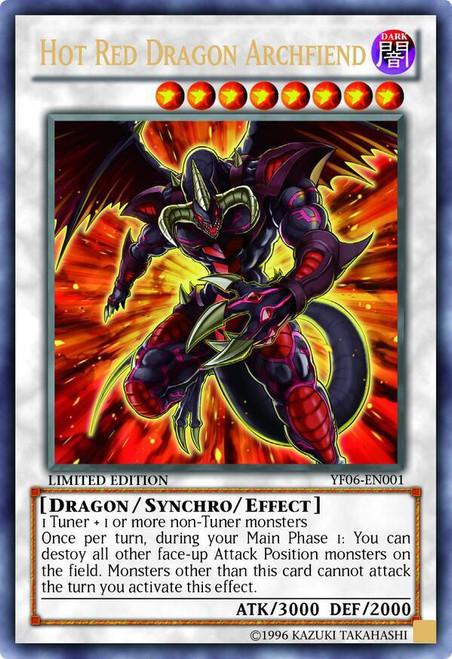 YuGiOh Shonen Jump Ultra Rare Hot Red Dragon Archfiend YF06-EN001