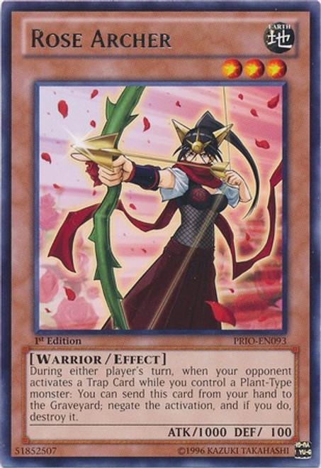 YuGiOh Trading Card Game Primal Origin Rare Rose Archer PRIO-EN093