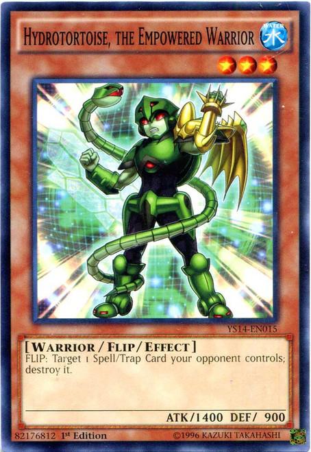 YuGiOh Space-Time Showdown Common Hydrotortoise, the Empowered Warrior YS14-EN015