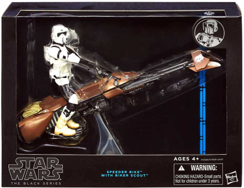 Star Wars Return of the Jedi Black Series 6-Inch Deluxe Speeder Bike & Scout Trooper Action Figure Set
