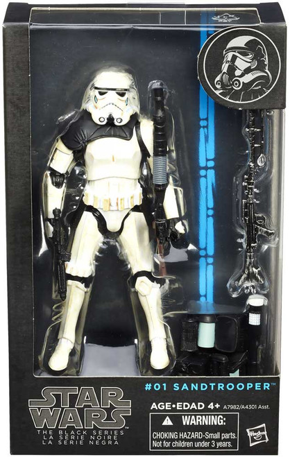 Star Wars A New Hope Black Series Wave 5 Sandtrooper Action Figure #01 [Black Shoulder Pauldron]