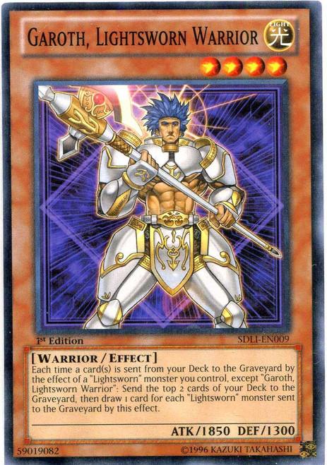 YuGiOh Realm of Light Common Garoth, Lightsworn Warrior SDLI-EN009