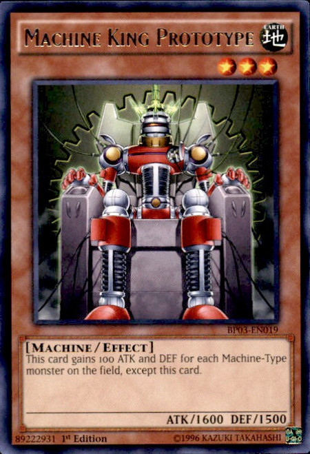 YuGiOh Battle Pack 3 Monster League Rare Machine King Prototype BP03-EN019