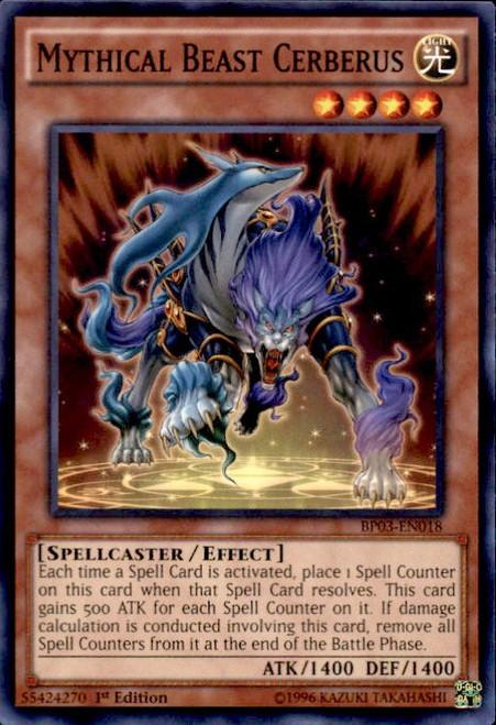 YuGiOh Battle Pack 3 Monster League Common Mythical Beast Cerberus BP03-EN018