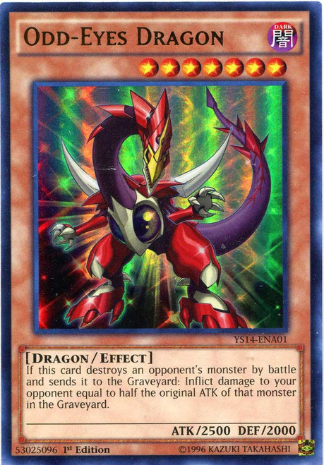 YuGiOh Space-Time Showdown Ultra Rare Odd-Eyes Dragon YS14-ENA01
