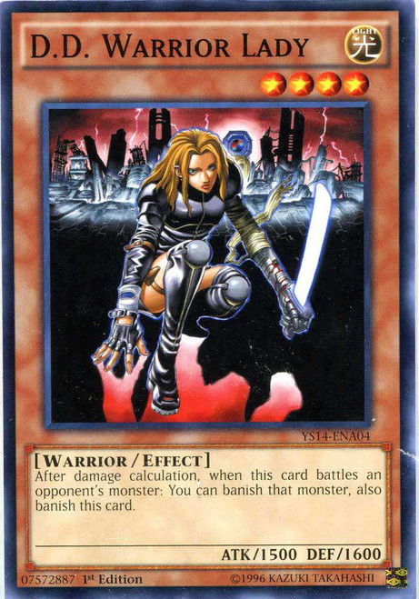 YuGiOh Space-Time Showdown Common D.D. Warrior Lady YS14-ENA04