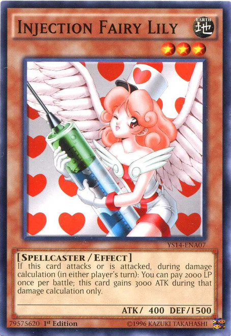 YuGiOh Space-Time Showdown Common Injection Fairy Lily YS14-ENA07