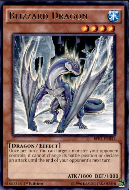 YuGiOh Battle Pack 3 Monster League Rare Blizzard Dragon BP03-EN031