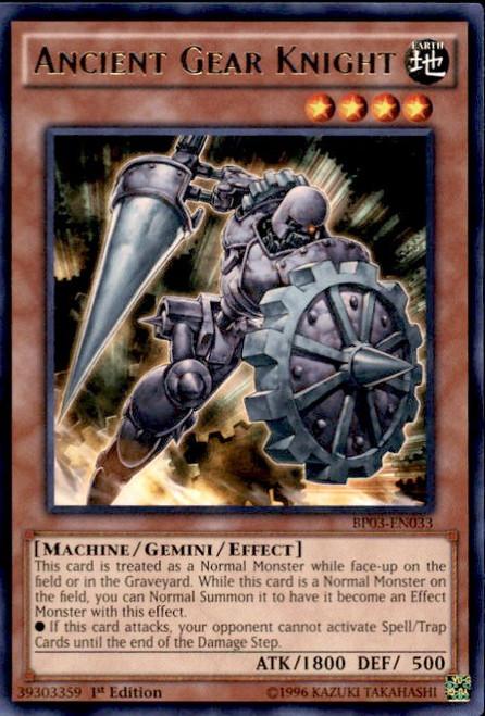 YuGiOh Battle Pack 3 Monster League Rare Ancient Gear Knight BP03-EN033