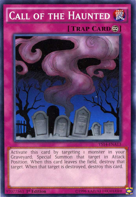 YuGiOh Space-Time Showdown Common Call of the Haunted YS14-ENA13