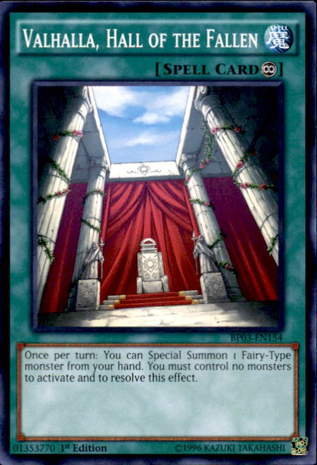 YuGiOh Battle Pack 3 Monster League Common Valhalla, Hall of the Fallen BP03-EN154