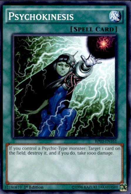 YuGiOh Battle Pack 3 Monster League Common Psychokinesis BP03-EN161