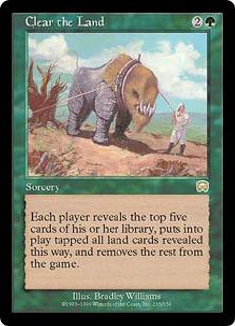 MtG Mercadian Masques Rare Clear the Land #235