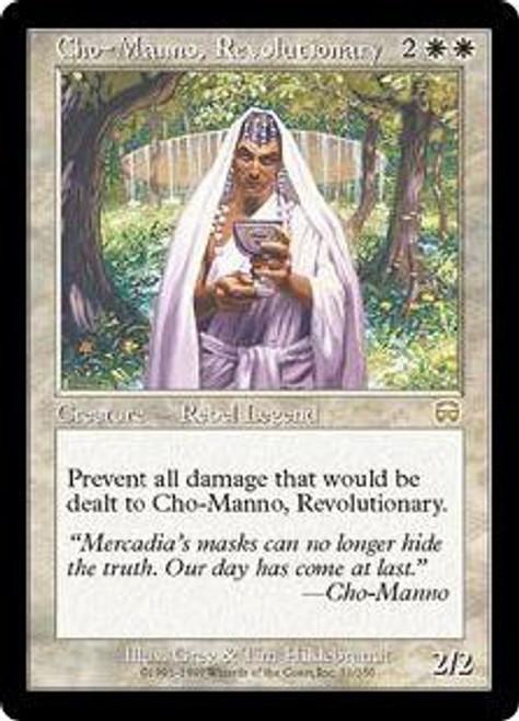 MtG Mercadian Masques Rare Cho-Manno, Revolutionary #11