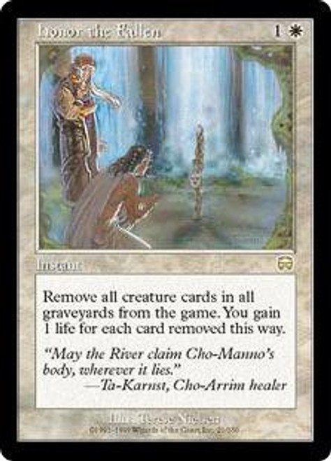 MtG Mercadian Masques Rare Honor the Fallen #21 [Played Condition]