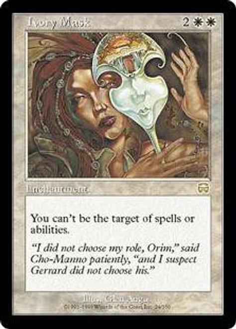 MtG Mercadian Masques Rare Ivory Mask #24 [Slightly Played Condition]