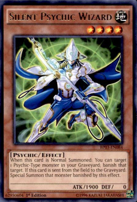 YuGiOh Battle Pack 3 Monster League Rare Silent Psychic Wizard BP03-EN084