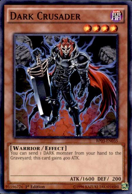 YuGiOh Battle Pack 3 Monster League Shatterfoil Common Dark Crusader BP03-EN035 [Shatterfoil]