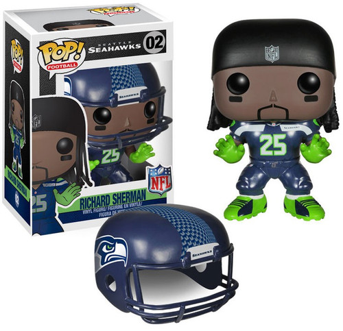 Funko NFL Seattle Seahawks POP! Sports Football Richard Sherman Vinyl Figure #02 [Blue Uniform]