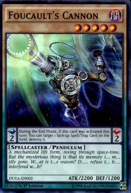 YuGiOh Duelist Alliance Super Rare Foucault's Cannon DUEA-EN002