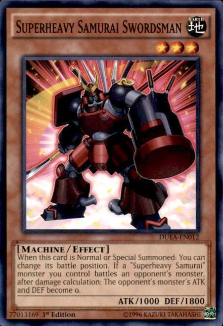 YuGiOh Duelist Alliance Common Superheavy Samurai Swordsman DUEA-EN012