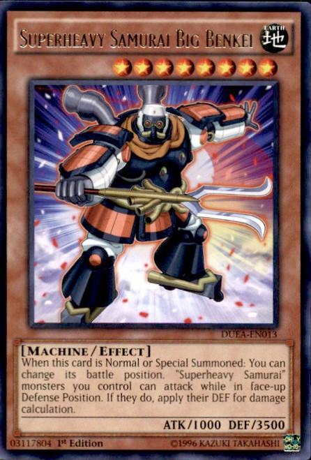 YuGiOh Duelist Alliance Rare Superheavy Samurai Big Benkei DUEA-EN013