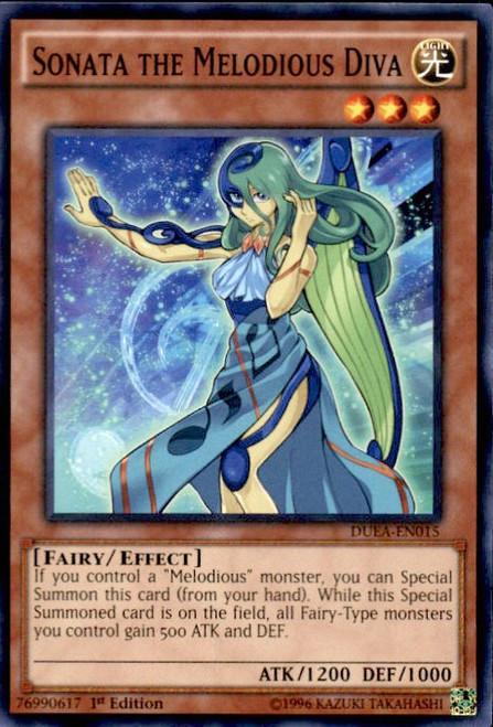 YuGiOh Duelist Alliance Common Sonata the Melodious Diva DUEA-EN015