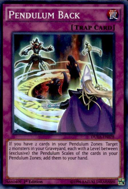 YuGiOh Duelist Alliance Super Rare Pendulum Back DUEA-EN078