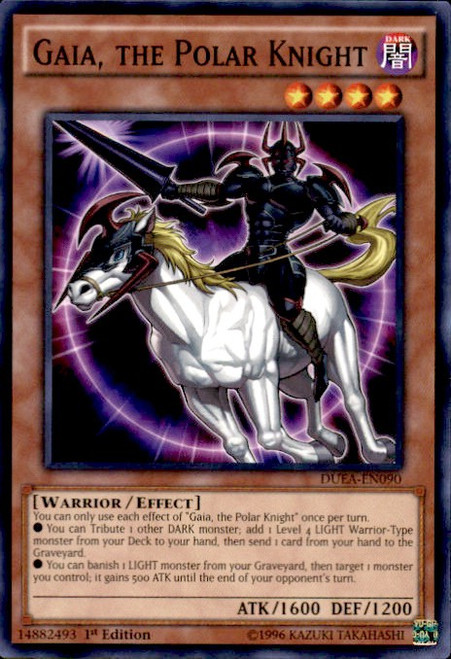YuGiOh Duelist Alliance Common Gaia, the Polar Knight DUEA-EN090