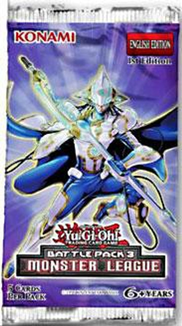 YuGiOh Trading Card Game Battle Pack 3 Monster League Booster Pack
