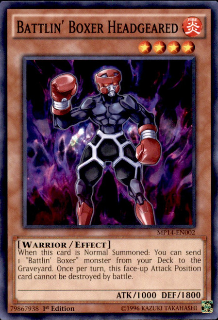 YuGiOh 2014 Mega Tin Common Battlin' Boxer Headgeared MP14-EN002