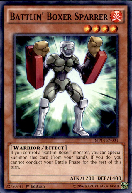 YuGiOh 2014 Mega Tin Common Battlin' Boxer Sparrer MP14-EN004