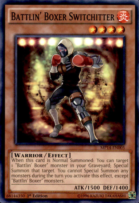 YuGiOh 2014 Mega Tin Common Battlin' Boxer Switchitter MP14-EN005