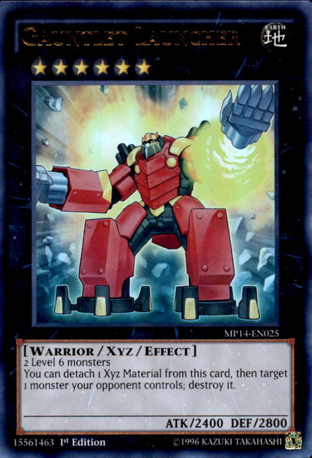 YuGiOh 2014 Mega Tin Ultra Rare Gauntlet Launcher MP14-EN025