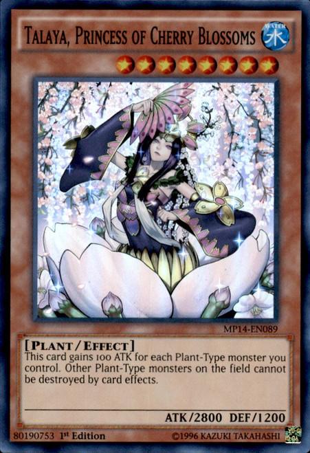 YuGiOh 2014 Mega Tin Super Rare Talaya, Princess of Cherry Blossoms MP14-EN089