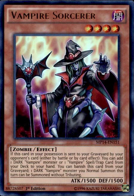 YuGiOh 2014 Mega Tin Ultra Rare Vampire Sorcerer MP14-EN151