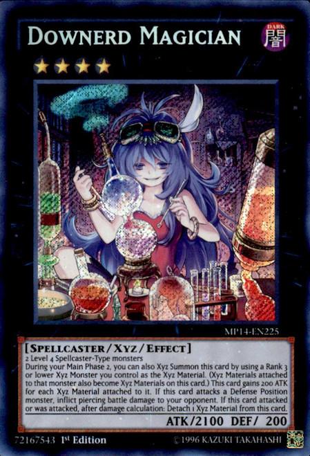 YuGiOh 2014 Mega Tin Secret Rare Downerd Magician MP14-EN225