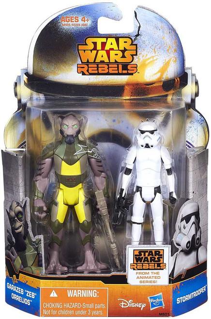 "Star Wars Rebels Mission Series Garazeb ""Zeb"" Orrelios & Stormtrooper Action Figure 2-Pack MS01"