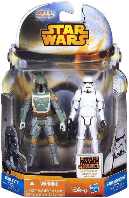 Star Wars The Empire Strikes Back Mission Series Boba Fett & Stormtrooper Action Figure 2-Pack MS05 [Episode V]