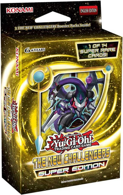 YuGiOh Trading Card Game The New Challengers Super Edition [3 Booster Packs & 1 Super Rare Card!]