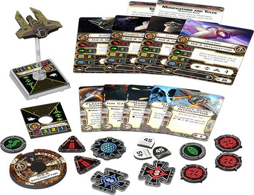 Star Wars X-Wing Miniatures Game M3-A Interceptor Expansion Pack