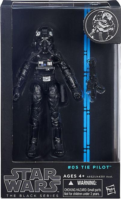 Star Wars A New Hope Black Series Wave 6 Tie Pilot Action Figure #05