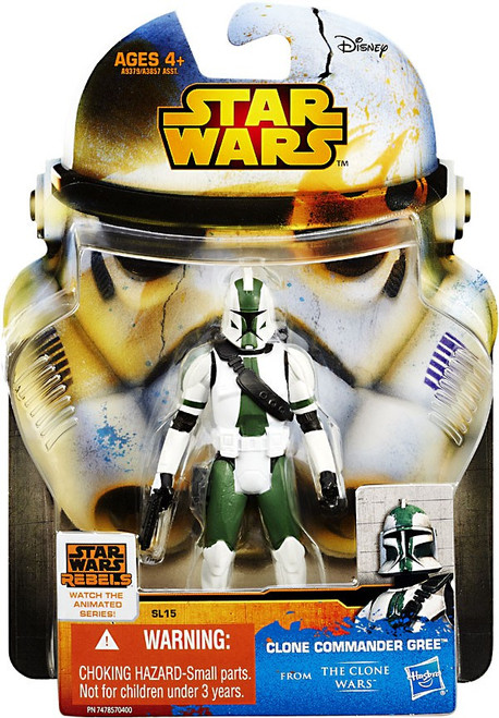 Star Wars The Clone Wars 2015 Saga Legends Clone Commander Gree Action Figure SL15