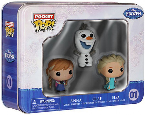 Funko Disney Frozen POP! Disney Anna, Olaf & Elsa Vinyl Mini Figure Tin 3-Pack #01